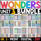 Wonders 3rd Grade Unit 3 BUNDLE: Interactive Notebook Pages and Supplements