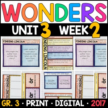 Wonders 3rd Grade, Unit 3 Week 2: Finding Lincoln Interactive Supplements
