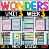 Wonders 3rd Grade, Unit 3 Week 3: Earth Supplements with G