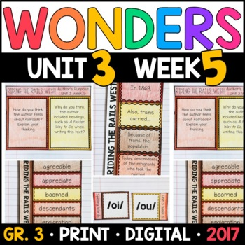 Wonders 3rd Grade, Unit 3 Week 5: Riding the Rails West! Interactive Supplements