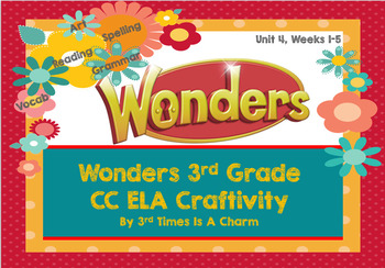 Wonders 3rd Grade Unit 4 Craftivity
