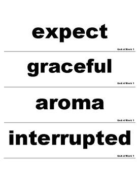 Wonders 3rd Grade Unit 4 Vocabulary Cards