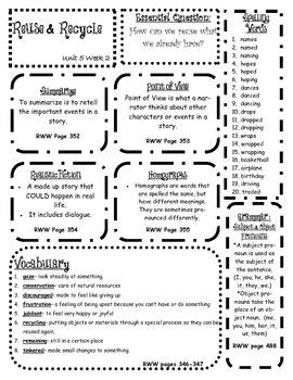 Wonders 3rd Grade Unit 5 Skills Posters