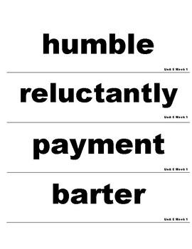 Wonders 3rd Grade Unit 5 Vocabulary Cards
