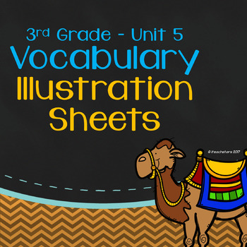 Wonders 3rd Grade Unit 5 Vocabulary Illustration Sheets