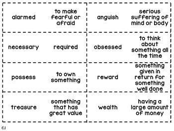 Wonders 3rd Grade Unit 6 Vocabulary Flashcards