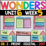Wonders 3rd Grade, Unit 6 Week 5: Ollie's Escape Interactive Supplements