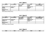 Wonders 3rd Grade Unit Plans