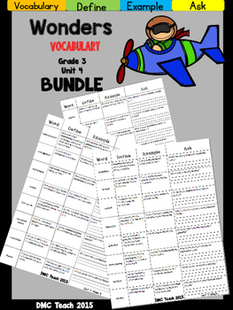 Wonders 3rd Grade Vocabulary Bundle Unit-4