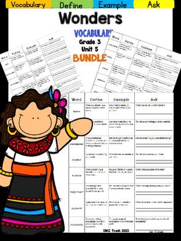 Wonders 3rd Grade Vocabulary Bundle Unit-5