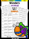 Wonders 3rd Grade Vocabulary Bundle Unit-6