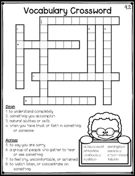 image regarding 3rd Grade Crossword Puzzles Printable titled Miracles 3rd Quality Vocabulary Crossword Puzzles Device 4