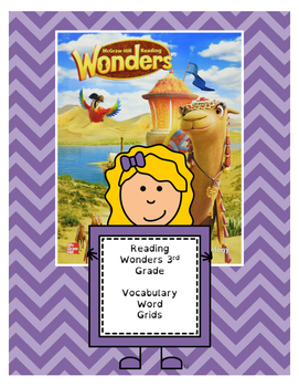 Wonders 3rd Grade Vocabulary Pages (All 6 units - 30 pages)