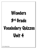 Wonders 3rd Grade Vocabulary Quizzes Unit 4