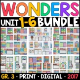 Wonders 3rd Grade WHOLE-YEAR BUNDLE Units 1-6 (Interactive Pages & Supplements)