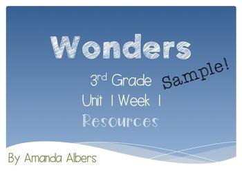 Wonders 3rd grade U1 W1 Resources Sample