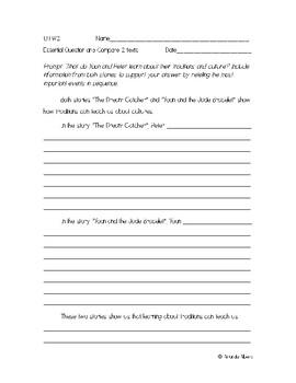 Wonders 3rd grade U1 W2 Writing Prompt
