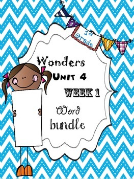 Wonders 4.1 Word Bundle