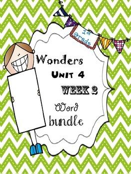 Wonders 4.2 Word Bundle