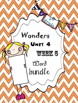 Wonders 4.5 Word Bundle