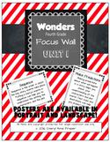 Wonders 4th Grade Focus Wall - Unit 1