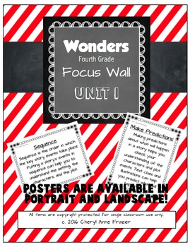 Wonders 4th Grade Focus Wall - Unit 1