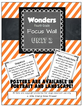 Wonders 4th Grade Focus Wall - Unit 2