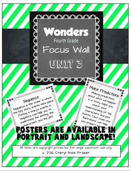 Wonders 4th Grade Focus Wall - Unit 3
