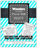 Wonders 4th Grade Focus Wall - Unit 4