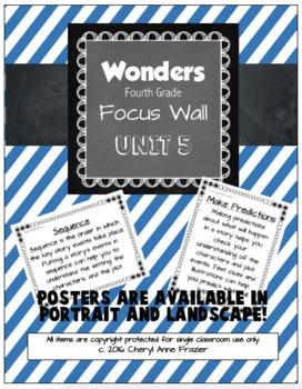 Wonders 4th Grade Focus Wall - Unit 5