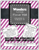 Wonders 4th Grade Focus Wall - Unit 6