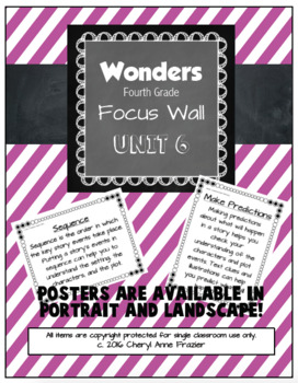 Wonders 4th Grade Focus Wall - Unit 6