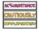Wonders 4th Grade Focus Wall Vocabulary Display - Unit 3