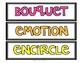 Wonders 4th Grade Focus Wall Vocabulary Display - Unit 5