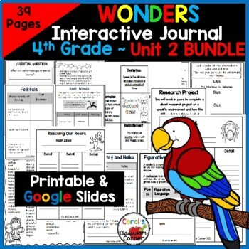 Wonders 4th Grade Interactive Journal Unit 2 BUNDLE