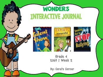 Wonders 4th Grade Interactive Journal Unit 1-Week-2