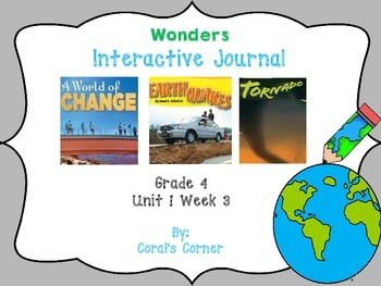 Wonders 4th Grade Interactive Journal Unit 1-Week-3