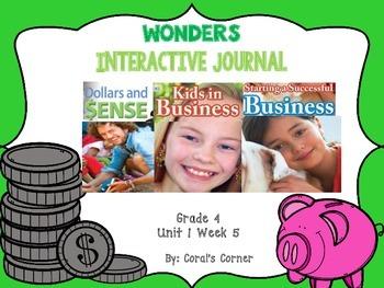 Wonders 4th Grade Interactive Journal Unit 1-Week-5
