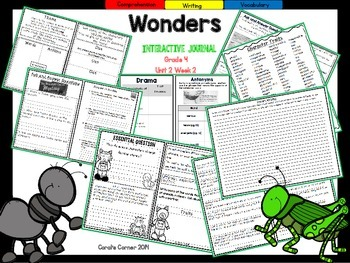 Wonders 4th Grade Interactive Journal Unit 2-Week-2