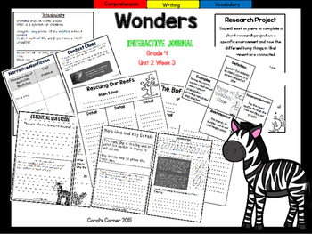 Wonders 4th Grade Interactive Journal Unit 2-Week-3