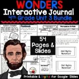 Wonders 4th Grade Interactive Journal Unit 3 BUNDLE