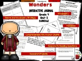 Wonders 4th Grade Interactive Journal Unit 5 BUNDLE