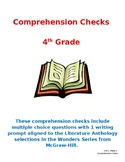 Wonders 4th Grade Literature Anthology Comprehension Checks- Unit 3