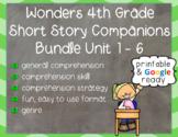 Wonders 4th Grade: Short Story Booklets Units 1 - 6 - Printable & Digital