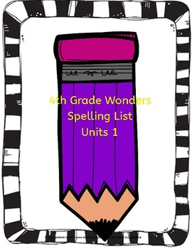 Wonders 4th Grade Spelling List