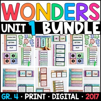 Wonders 4th Grade Unit 1 BUNDLE: Interactive Notebook Pages and Supplements