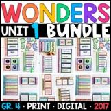 Wonders 4th Grade Unit 1 BUNDLE: Interactive Notebook Page