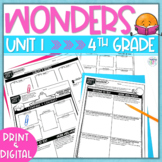 Wonders (2017) 4th Grade - Unit 1 Reading Response - Print