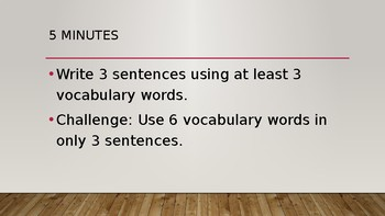 Wonders 4th Grade Unit 1 Week 1 Editable Vocabulary Powerpoint