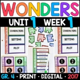 Wonders 4th Grade, Unit 1 Week 1: The Princess and the Pizza Supplements